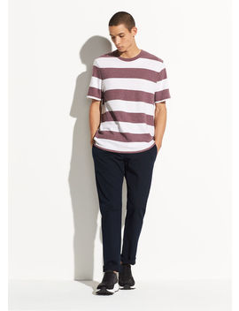 Heather Stripe Short Sleeve Crew by Vince