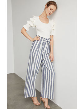 Striped Paperbag Waist Pant by Bcbgmaxazria