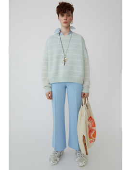 Wide, Cropped Trousers Light Blue by Acne Studios