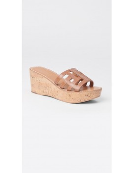 Piper Leather Wedge Sandal by J.Mc Laughlin