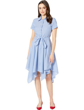 Hankie Hem Shirtdress W/ Sash by London Times