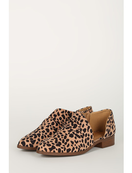 Printed Almond Toe D Orsay Flat by Urbanog