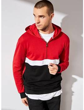 Isaac Logo Color Block Hoodie by Guess