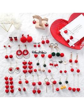 """Red"" Earrings by So Aesthetic Shop"