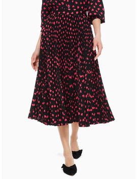 Heartbeat Pleated Skirt by Kate Spade