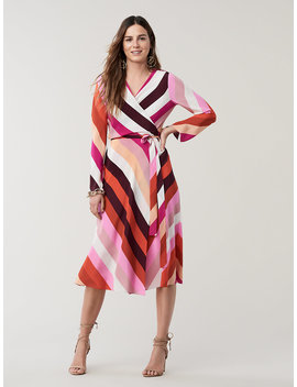 Tilly Silk Crepe De Chine Wrap Dress by Dvf