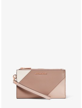 Adele Tri Color Leather Smartphone Wallet by Michael Michael Kors