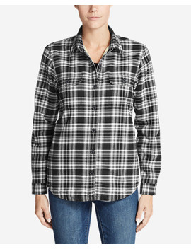 Women's Eddie's Favorite Flannel Sherpa Lined Shirt Jacket by Eddie Bauer