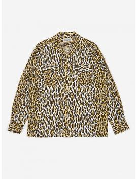 Leopard Open Collar Shirt   Leopard by Wacko Maria
