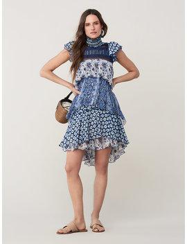 Matilda Silk Chiffon Ruffle Dress by Dvf