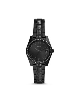 Scarlette Mini Three Hand Date Black Stainless Steel Watch by Fossil