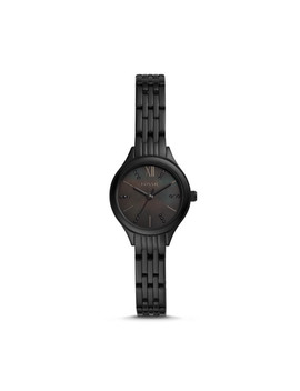 Suitor Mini Three Hand Black Stainless Steel Watch by Fossil