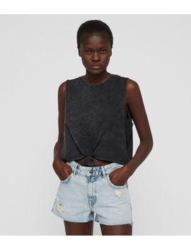 Cleo Denim Boyfriend Shorts by Allsaints