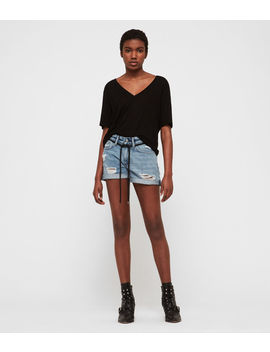 Blaire Boyfriend Denim Shorts by Allsaints