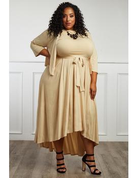 Meadowlark Plus Size Dress + Cardigan Set by Gs Love
