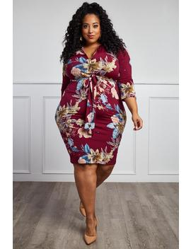 I'll Be With You Plus Size Knee Dress by Gs Love