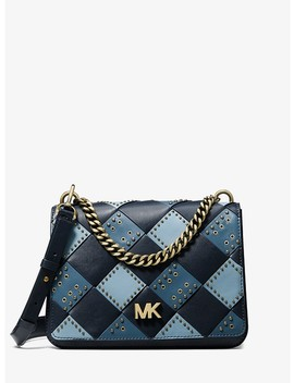 Mott Large Embellished Patchwork Leather Crossbody Bag by Michael Michael Kors