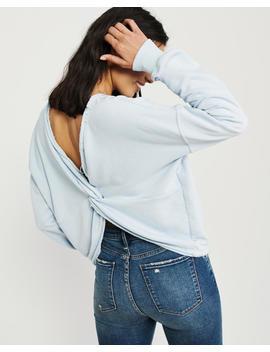 Twist Back Crew Sweatshirt by Abercrombie & Fitch