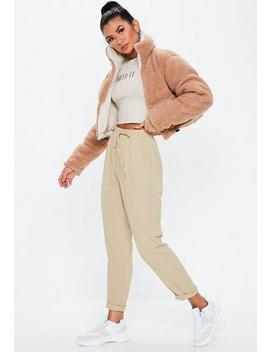 Stone Tie Waist Trousers by Missguided