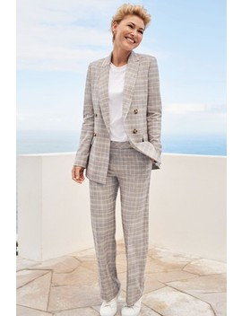 Grey Emma Willis Pastel Check Double Breasted Jacket by Next