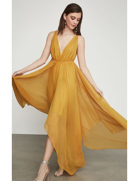 Draped Chiffon Maxi Dress by Bcbgmaxazria