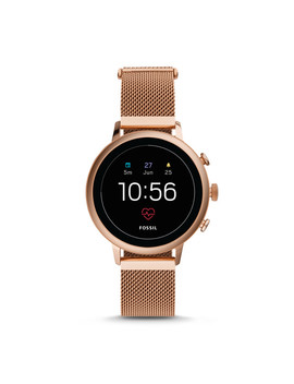 Gen 4 Smartwatch   Venture Hr Rose Gold Tone Stainless Steel Mesh by Fossil