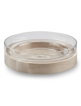 Shallow Glass Bowl With Ash by Williams   Sonoma
