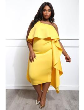 Diva Darling Plus Size Midi Dress by Gs Love