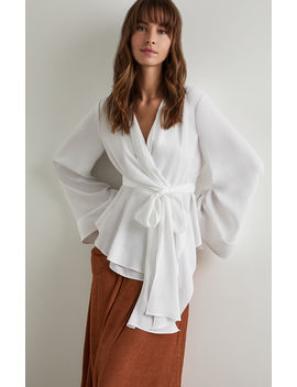 Shawl Collar Wrap Top by Bcbgmaxazria