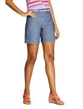 """Women's Mid Rise 7"""" Chino Shorts by Lands' End"""