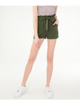 High Waisted Paperbag Shorts by Aeropostale