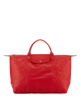 Le Pliage Cuir Large Tote Bag by Longchamp