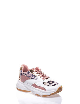 Have It All Mixed Media Leopard Sneakers by Go Jane
