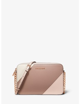 Large Tri Color Leather Crossbody by Michael Michael Kors