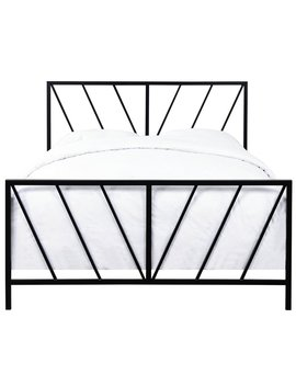 Pulaski Queen Metal Bed In Black Keep In Touch by Homes Quare