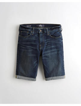 Advanced Stretch Super Skinny Denim Short by Hollister