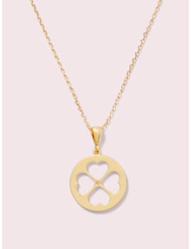 Symbols Spade Floral Mini Pendant by Kate Spade