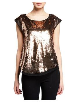 Jana Sequin And Tulle Top by Julie Brown