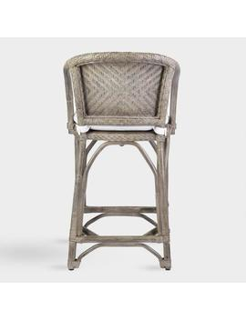 Gray Rattan Zelma Counter Stool With Cushion by World Market