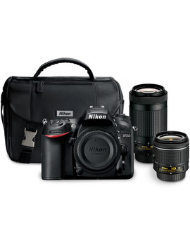 D7200 Dslr Camera With 18 55mm And 70 300mm Lenses Kit by Nikon