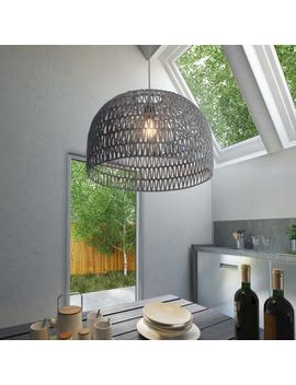 Gray Zigzag Open Weave Dome Laurel Pendant Lamp by World Market