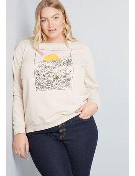Escape Into The Landscape Sweatshirt by Modcloth