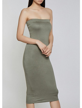 Crepe Knit Tube Dress by Rainbow