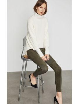 faux-suede-trimmed-legging by bcbgmaxazria