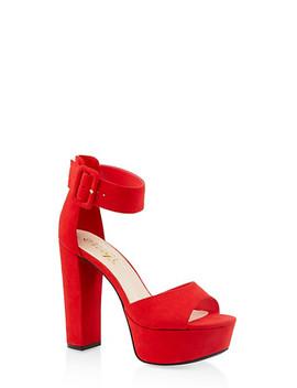 Ankle Strap High Heel Platform Sandals by Rainbow
