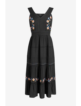 black-embroidered-dress by next