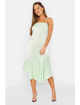 petite-asymmetric-hem-cami-slip-dress by boohoo
