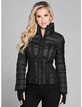 Bustier Puffer Coat by Guess