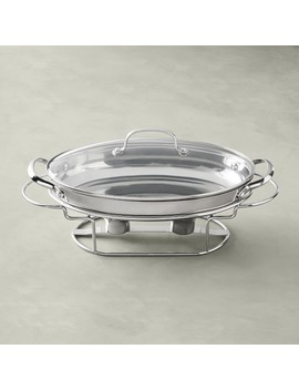 Cuisinart Oval Stainless Steel Chafing Dish by Williams   Sonoma