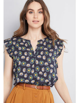 Set Expectations Floral Blouse by Modcloth